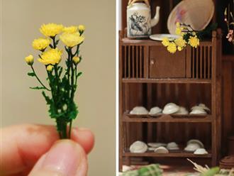 'Tan chảy' với cành hoa cúc tí hon trưng quanh năm không tàn, cách làm siêu cầu kì, tỉ mỉ nhìn thôi cũng 'nổi da gà'