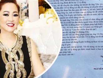 Bà Nguyễn Phương Hằng chính thức gửi đơn tố cáo 'thần y' Võ Hoàng Yên đến Công an TP. HCM