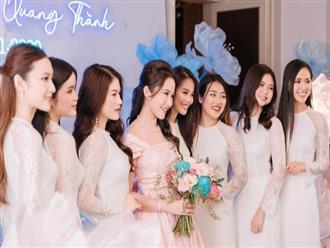 Vợ thiếu gia Phan Thành bất ngờ 'ra mắt' dàn phụ dâu 'siêu phẩm' trước giờ 'song hỷ lâm môn'
