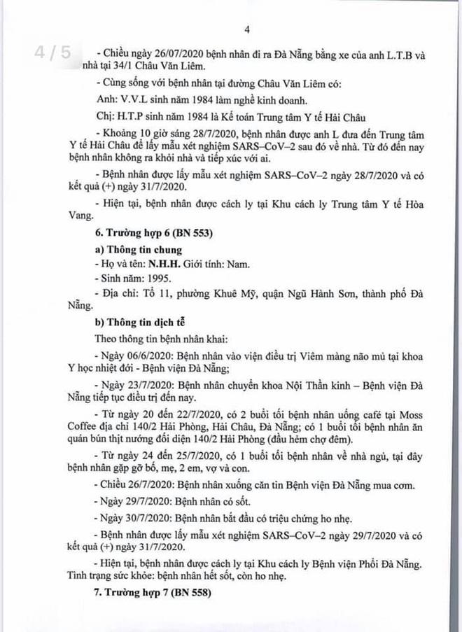 Lịch trình di chuyển của bệnh nhân Covid-19 trẻ tuổi ở Đà Nẵng - Ảnh 4