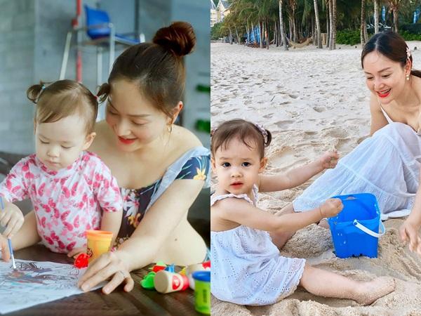 Con gái 21 tháng biết xếp bảng chữ cái, đếm số, đánh đàn, Lan Phương tiết lộ quy tắc dạy con mẹ nào cũng khen ngợi