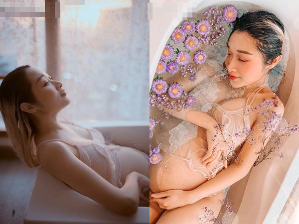 """Mẹ bầu Thái Bình mang thai 7 tháng đẹp xuất sắc, thần thái ngời ngời đập tan quan niệm cứ bầu bí là ngoại hình """"tuột dốc"""""""