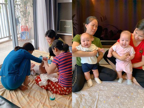 Nuôi con sinh đôi, bà xã Thành Trung thuê 3 người giúp việc, tự tay chuẩn bị đồ ăn dặm cho con cực cầu kỳ