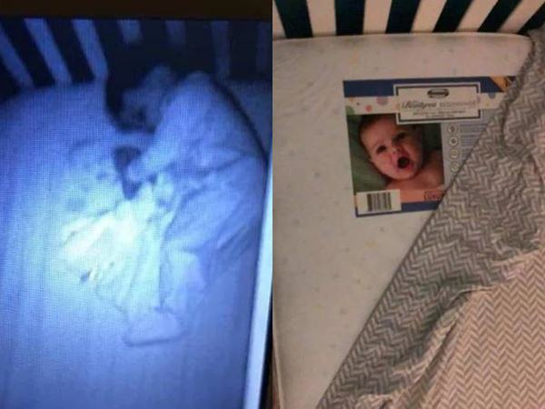 """Tối soi camera thấy có """"bóng ma"""" nằm cạnh con, đến khi kiểm tra mẹ mới phát hiện sự thật trớ trêu"""