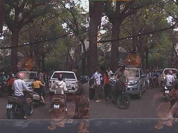 Hà Nội: Va chạm xe trên đường, tài xế ô tô bị anh Tây dạy cho bài học nhớ đời