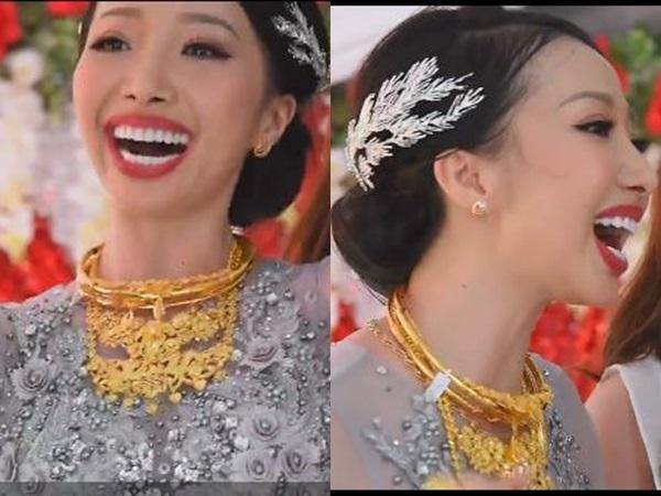 Xôn xao clip cô dâu Hậu Giang đeo hơn 1 kg vàng trong ngày cưới