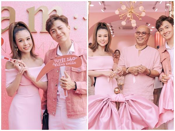 Ngô Kiến Huy, Jun Phạm, Ngọc Lan đến chúc mừng Sam lên chức bà chủ
