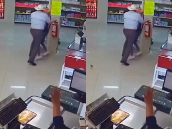 Người đàn ông tay không hạ gục tên cướp có súng lẫn dao ở Mexico