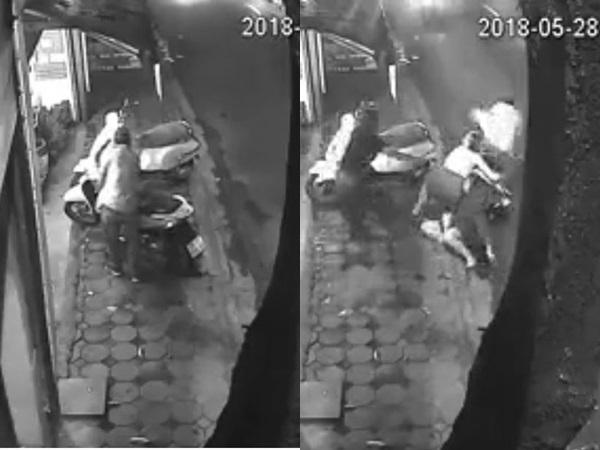 Trộm xe SH bất thành, nam thanh niên bị hội chị em xô ngã nhào xuống đường