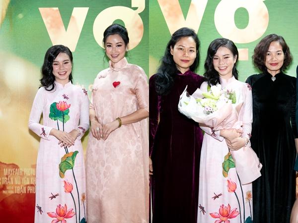 """Dàn diễn viên với trang phục áo dài truyền thống trong sự kiện công chiếu bộ phim """"Vợ ba"""""""
