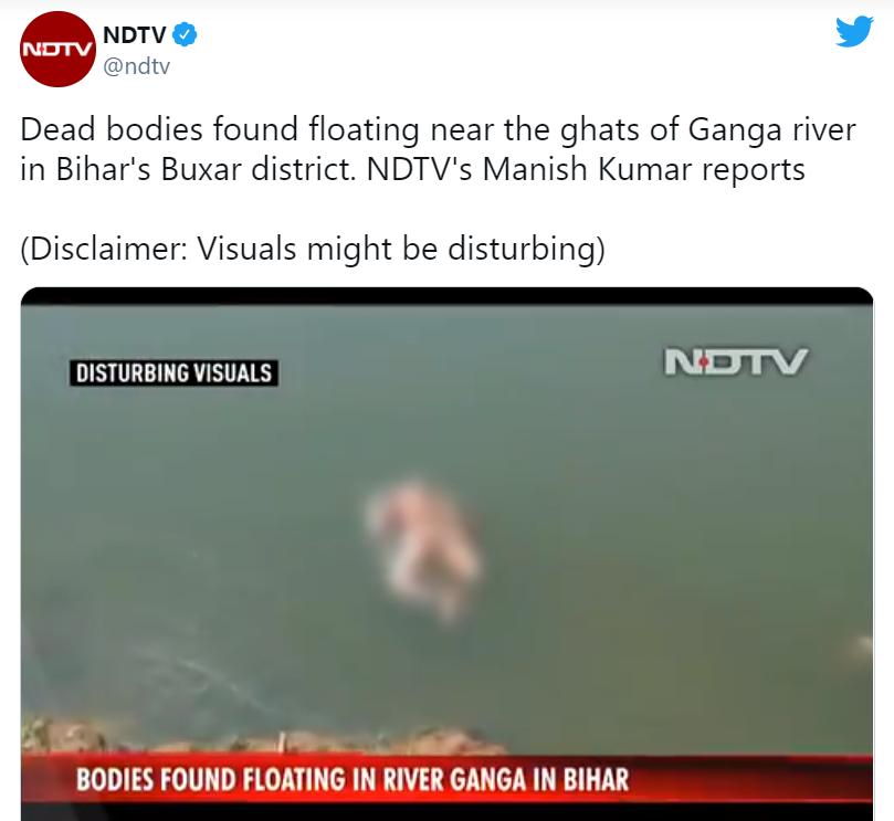 Sốc: Cả trăm thi thể bệnh nhân Covid-19 ở Ấn Độ bị thả trôi dưới sông Hằng, nghi bị chó hoang 'ăn thịt' - Ảnh 1