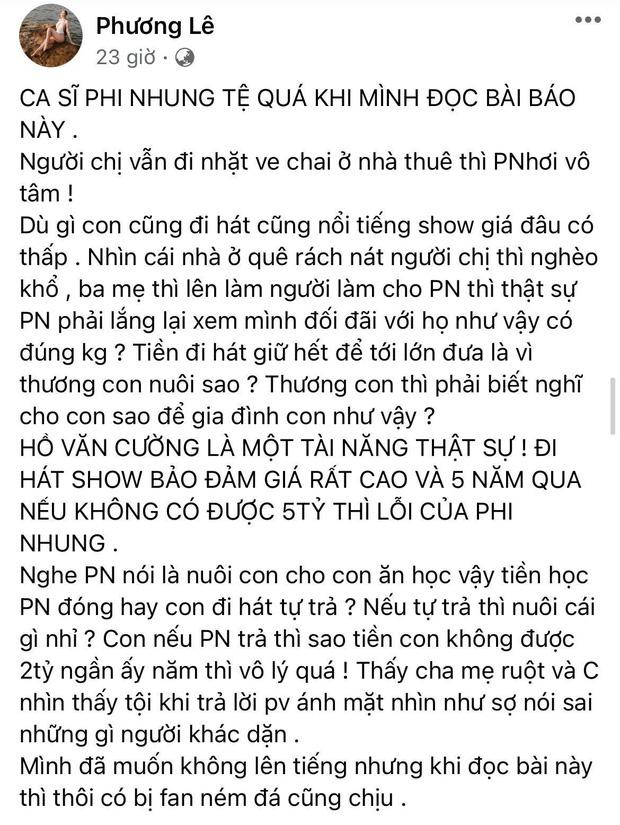 Ở đâu có drama là ở đó xuất hiện Hoa hậu Phương Lê: Hết dạy dỗ Quế Vân lại đòi Phi Nhung trả tiền cho Hồ Văn Cường - Ảnh 4