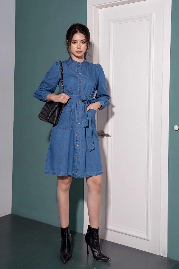 3 mẫu váy cho những ngày trời trở lạnh, chị em mặc vào xinh như hot girl xứ Hàn - Ảnh 2