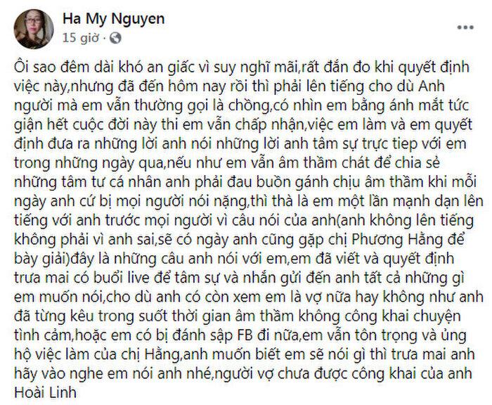 Dự liệu như 'thần', vừa tuyên bố ủng hộ bà Phương Hằng và hé lộ chuyện khiến Hoài Linh 'tức giận hết cuộc đời', ca sĩ Hà My đã bị 'động tay động chân' - Ảnh 1