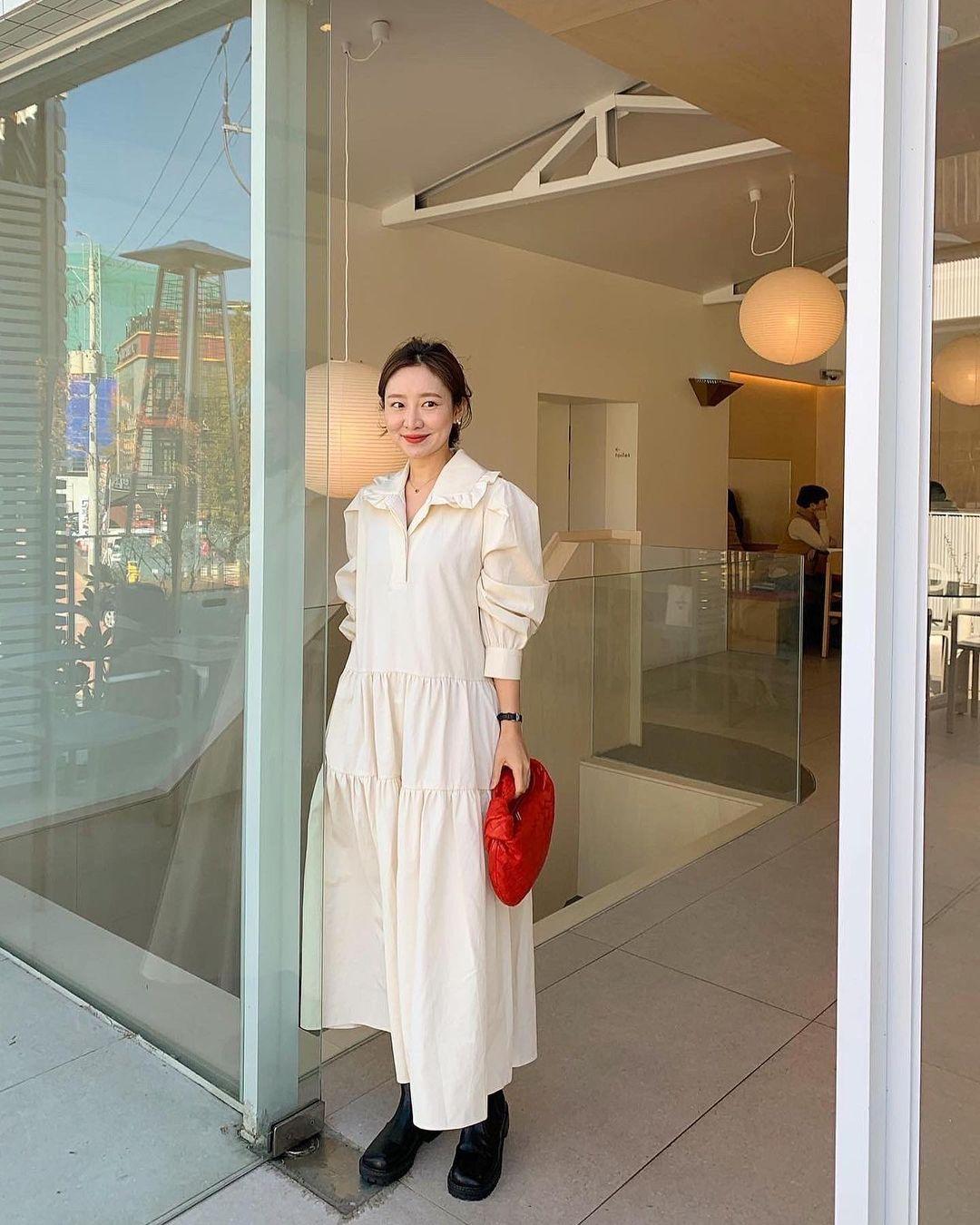 Hè đến là gái Hàn lại diện đủ kiểu váy trắng siêu trẻ xinh và tinh tế, xem mà muốn sắm cả 'lố' về nhà - Ảnh 4