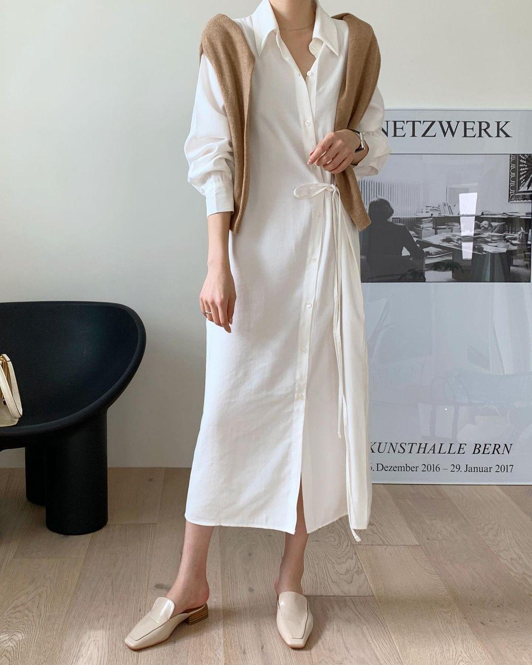 Hè đến là gái Hàn lại diện đủ kiểu váy trắng siêu trẻ xinh và tinh tế, xem mà muốn sắm cả 'lố' về nhà - Ảnh 8