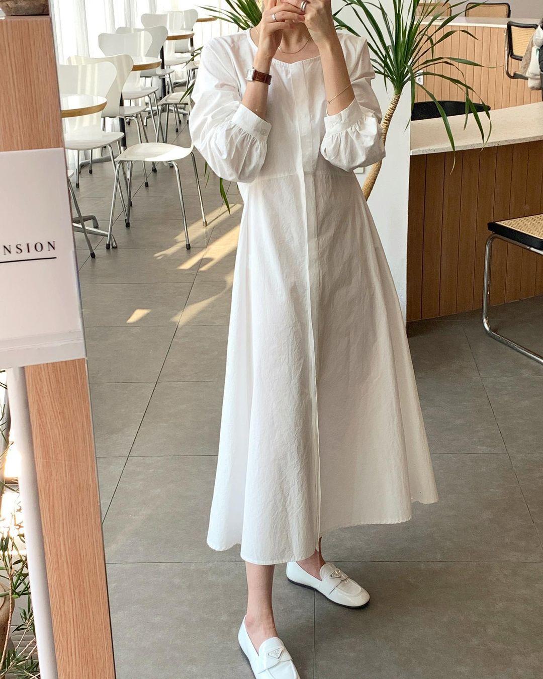 Hè đến là gái Hàn lại diện đủ kiểu váy trắng siêu trẻ xinh và tinh tế, xem mà muốn sắm cả 'lố' về nhà - Ảnh 11