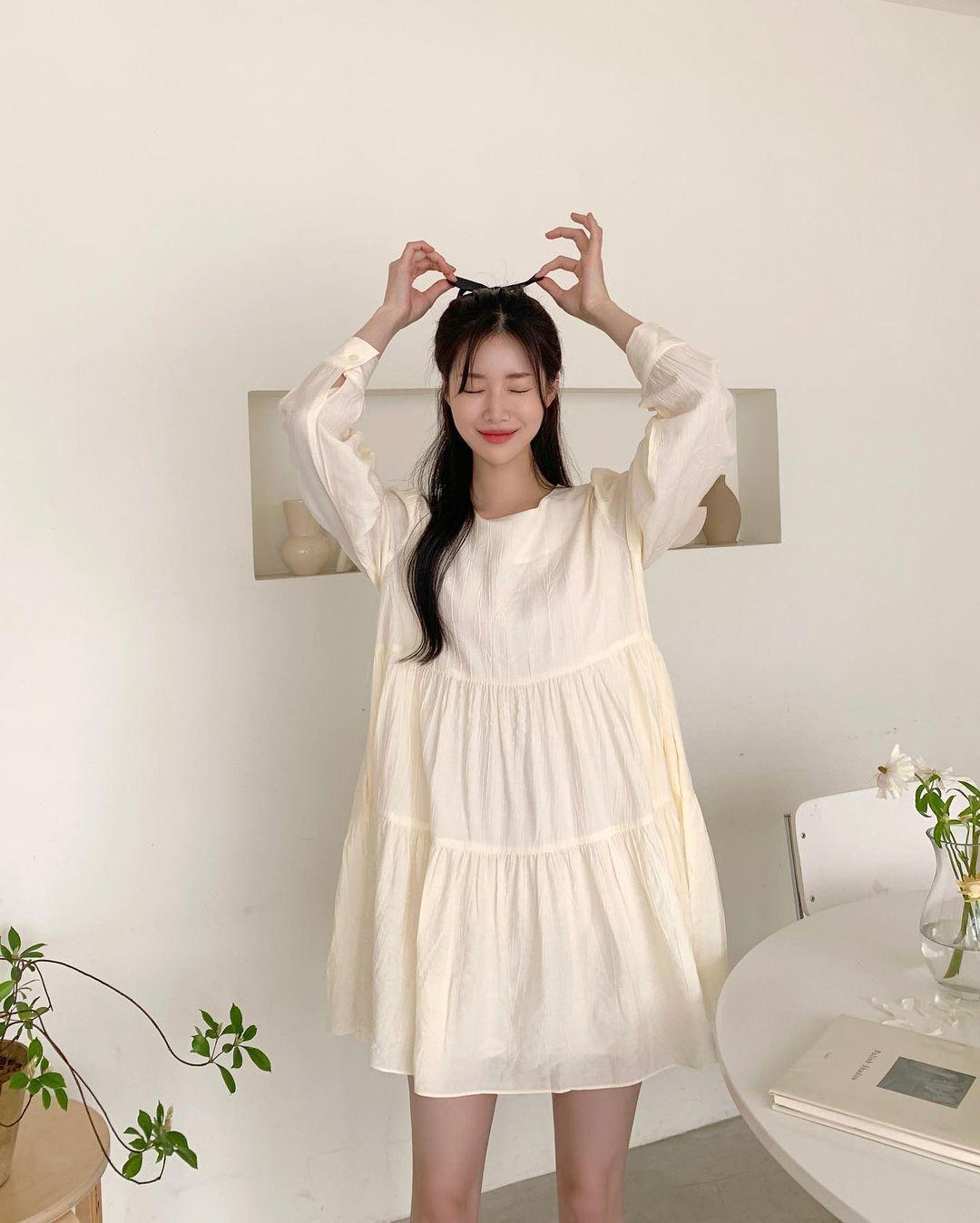 Hè đến là gái Hàn lại diện đủ kiểu váy trắng siêu trẻ xinh và tinh tế, xem mà muốn sắm cả 'lố' về nhà - Ảnh 13