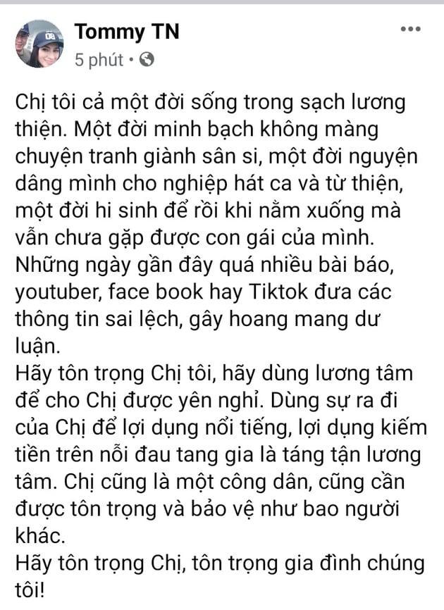 Em trai Phi Nhung 'phản pháo' những phát ngôn trục lợi từ sự ra đi của chị gái, khẩn xin cộng đồng mạng một điều ai cũng xót xa - Ảnh 2