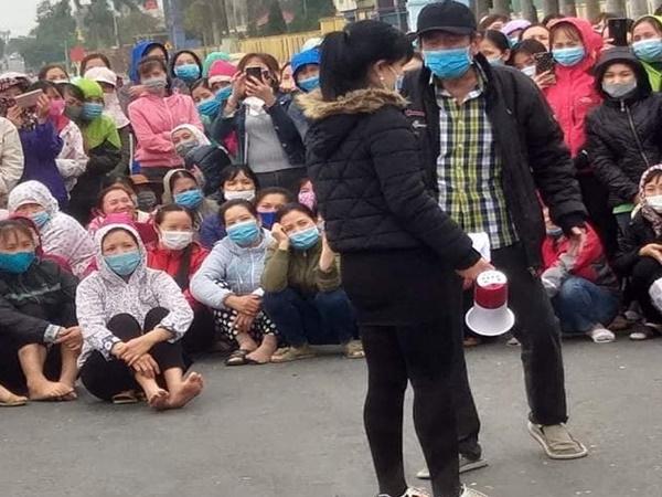 Hàng nghìn công nhân công ty giày da Nam Hà đình công, phản ánh việc cắt giảm tiền tăng ca