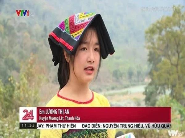 Gái xinh vùng cao xuất hiện trong bản tin thời sự khiến netizen phục êkip chương trình: Chọn khéo thật!