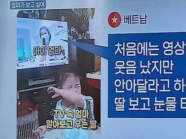 Hàn Quốc bất ngờ quan tâm clip 'Em bé Việt Nam òa khóc khi nhìn thấy mẹ trên tivi'