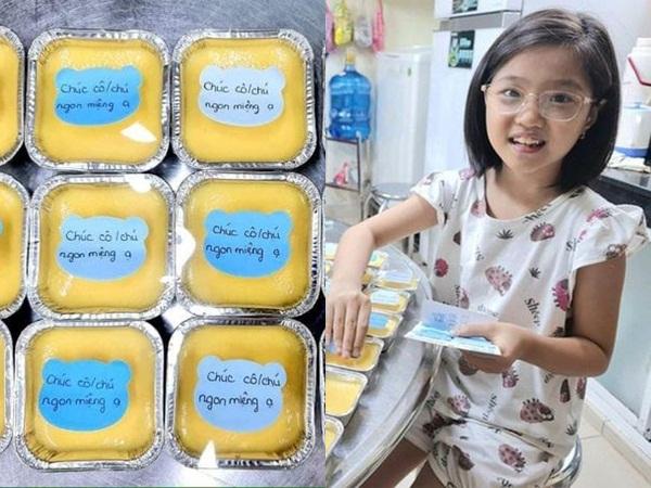 TP.HCM: Cô bé lớp 3 bán bánh ủng hộ quỹ vắc xin