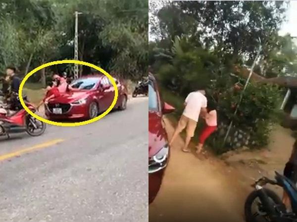 Tình tiết bất ngờ vụ người phụ nữ đu trên nắp capo ô tô đánh ghen: Hai vợ chồng bị công an triệu tập
