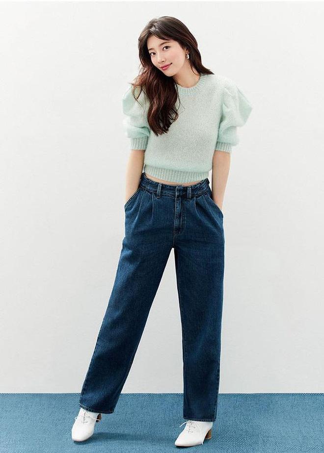Nhìn Suzy bạn sẽ thấy khả năng tôn chân - dìm dáng 'một trời một vực' giữa quần ống loe và quần ống suông - Ảnh 3