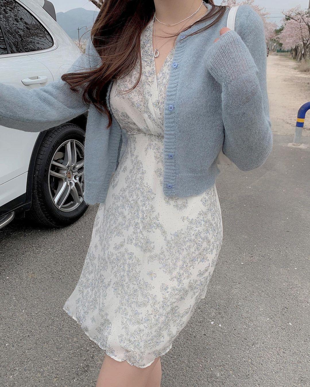 10 công thức diện váy hoa xinh mê tơi từ hội gái Hàn, phải lưu ngay để Hè này còn áp dụng - Ảnh 8