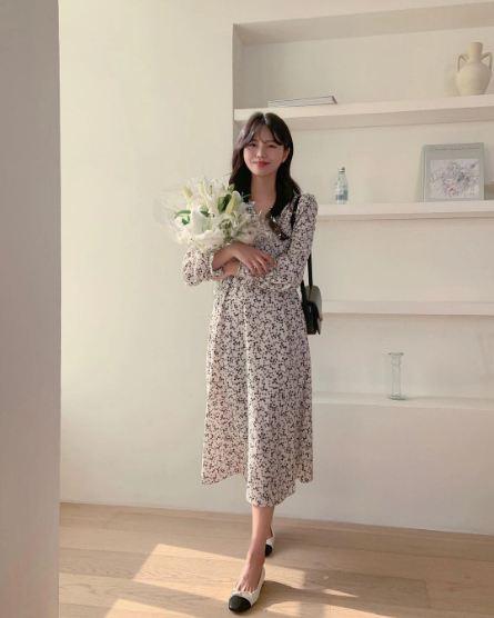 10 công thức diện váy hoa xinh mê tơi từ hội gái Hàn, phải lưu ngay để Hè này còn áp dụng - Ảnh 1