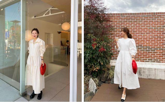 """Hè đến là gái Hàn lại diện đủ kiểu váy trắng siêu trẻ xinh và tinh tế, xem mà muốn sắm cả """"lố"""" về nhà"""