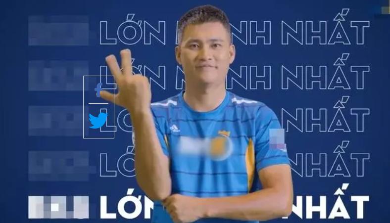 Hình ảnh Công Vinh quảng cáo cho một ứng dụng cá độ bóng đá, không được cấp phép và có những hoạt động trái pháp luật khiến công chúng xôn xao.