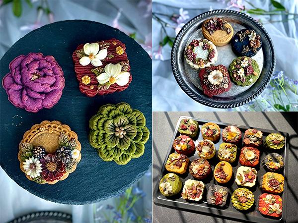 Cách tạo vỏ hoa cho bánh Trung thu màu sắc rực rỡ, hoa văn nổi bật đầy mới lạ