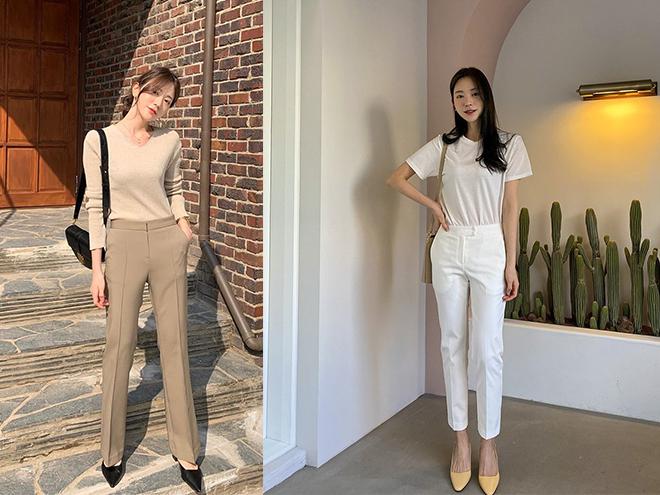 """Thường mặc dáng quần âu chuẩn """"nhân viên kiểu mẫu"""", quý cô Hàn Quốc vẫn sành điệu chứ không chán ngắt nhờ mix đồ khéo léo"""