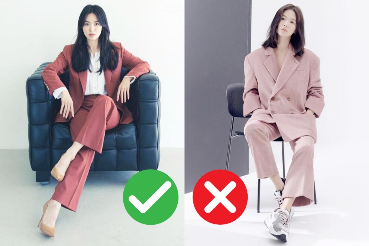 """Hiếm lắm mới thấy Song Hye Kyo diện suit mà không bị """"gồng"""", cố quá nhưng không quá cố nữa rồi"""