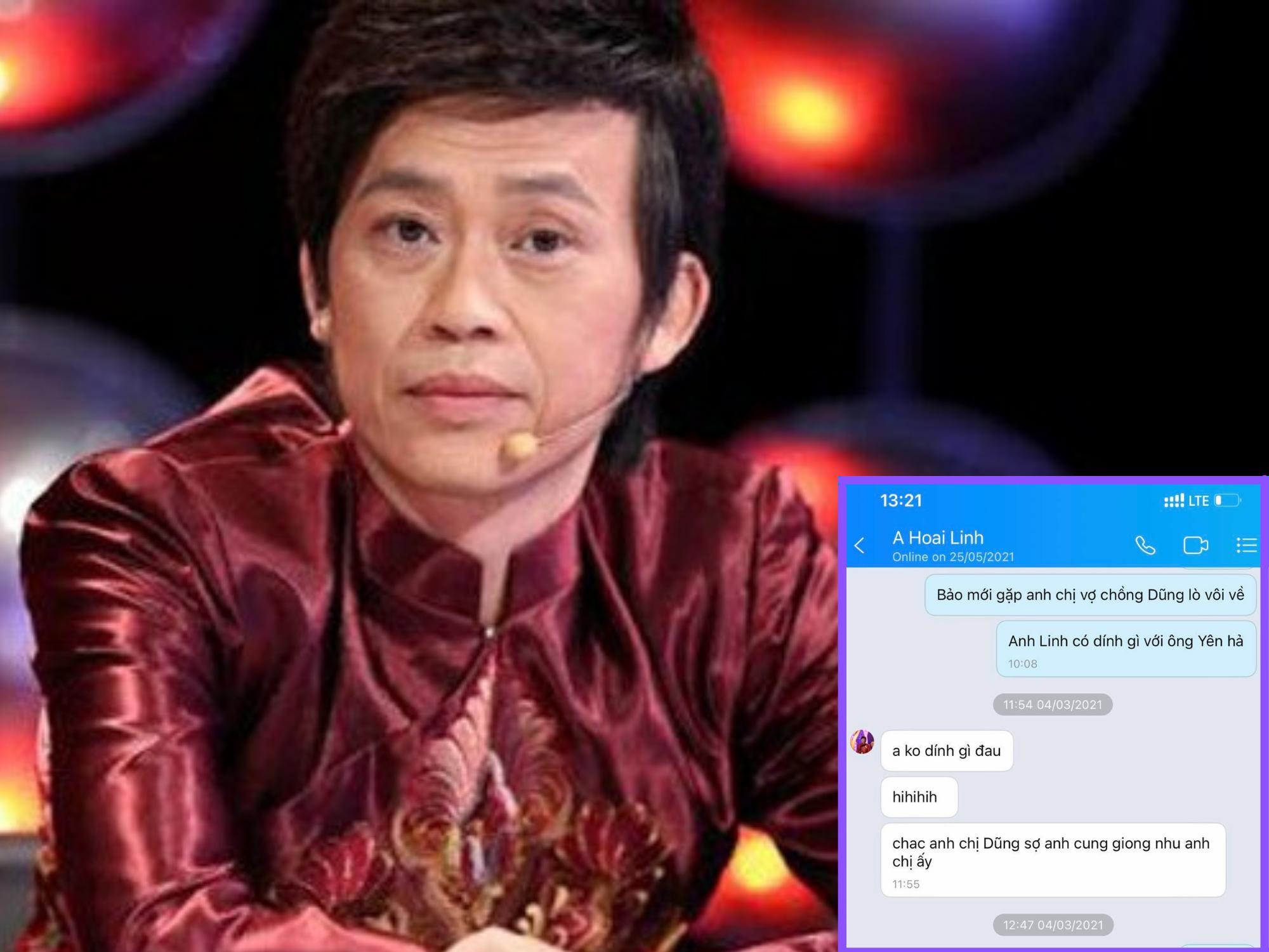 Rò rỉ loạt tin nhắn của Hoài Linh khẳng định không liên quan đến ông Võ Hoàng Yên