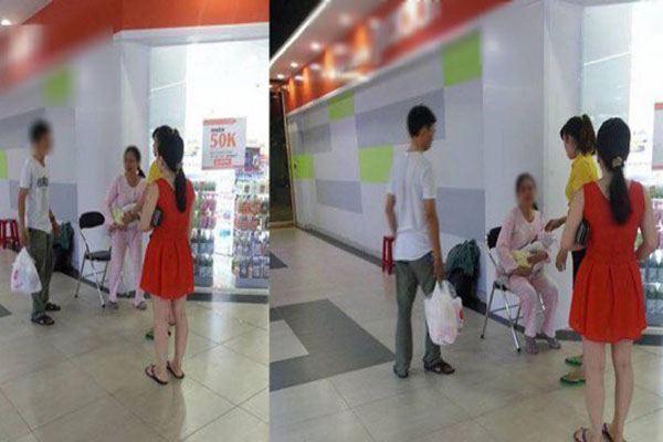 Vợ cho con bú trong siêu thị ở TP.HCM bị chồng đánh tơi tả