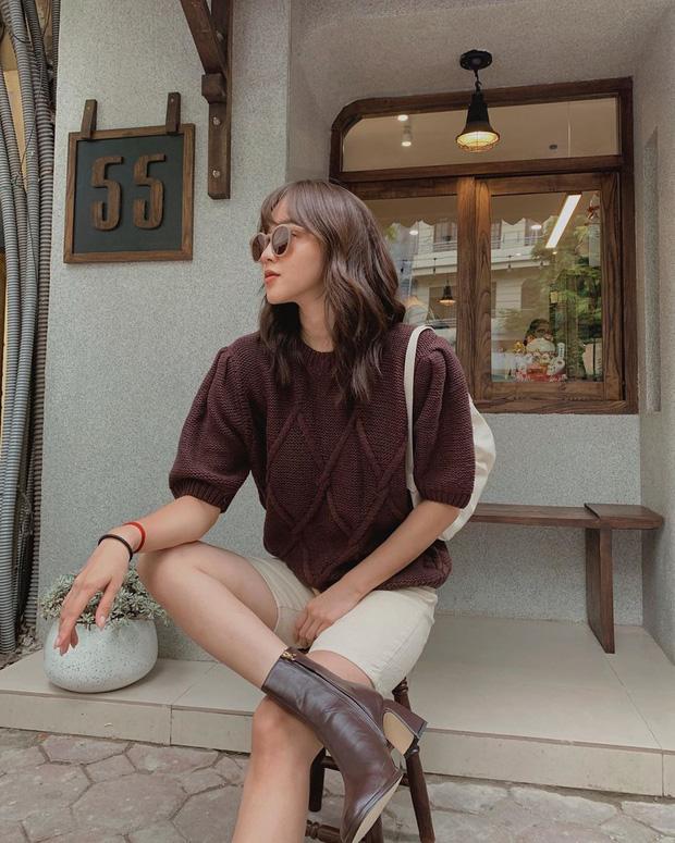 Ngắm 10 mẫu áo len cộc tay xinh chuẩn Hàn này, bạn sẽ muốn sắm bằng hết để diện dần - Ảnh 1