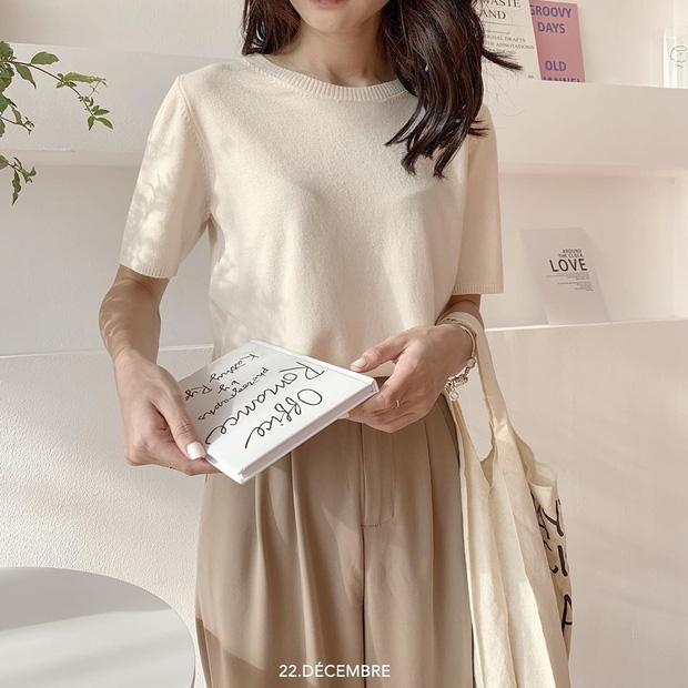 Ngắm 10 mẫu áo len cộc tay xinh chuẩn Hàn này, bạn sẽ muốn sắm bằng hết để diện dần - Ảnh 2