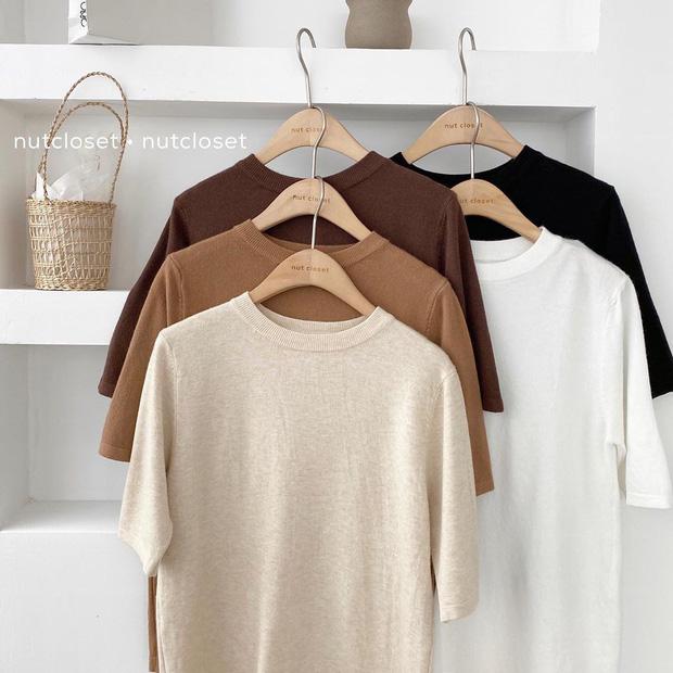 Ngắm 10 mẫu áo len cộc tay xinh chuẩn Hàn này, bạn sẽ muốn sắm bằng hết để diện dần - Ảnh 3