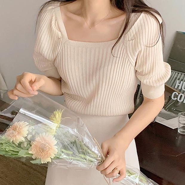 Ngắm 10 mẫu áo len cộc tay xinh chuẩn Hàn này, bạn sẽ muốn sắm bằng hết để diện dần - Ảnh 7