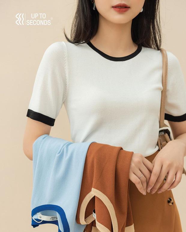 Ngắm 10 mẫu áo len cộc tay xinh chuẩn Hàn này, bạn sẽ muốn sắm bằng hết để diện dần - Ảnh 9