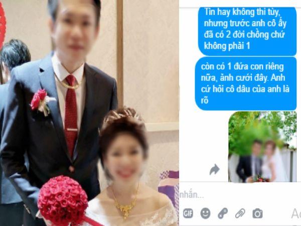 """Bất chấp gia đình phản đối để cưới người phụ nữ đã qua 1 đời chồng và có 1 con riêng, ai ngờ giữa đêm tân hôn chú rể nhận tin nhắn: """"Tin hay không cứ hỏi cô ấy sẽ rõ"""""""