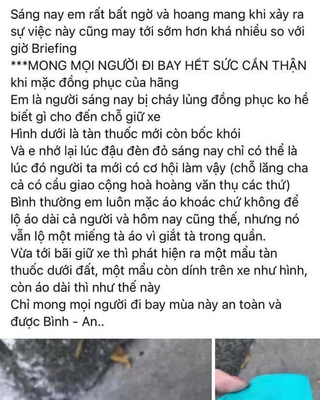 Xôn xao hình ảnh TVHK Vietnam Airlines bị dí thuốc lá cháy dở vào bả vai khi đang mặc đồng phục - Ảnh 2