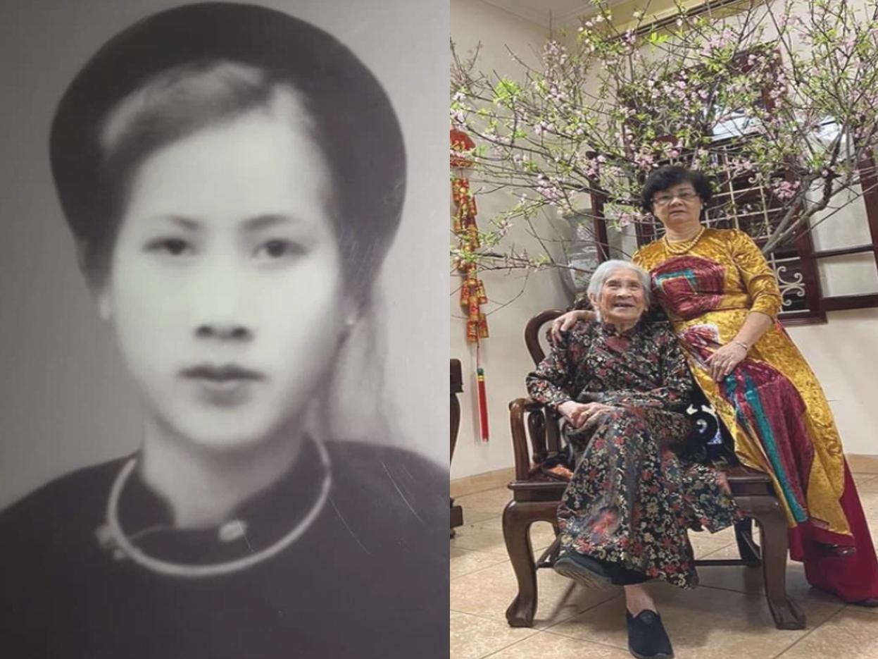 Ngỡ ngàng nhan sắc 'tuyệt trần' thuở thanh xuân của cụ bà 100 tuổi ở Hà Nội