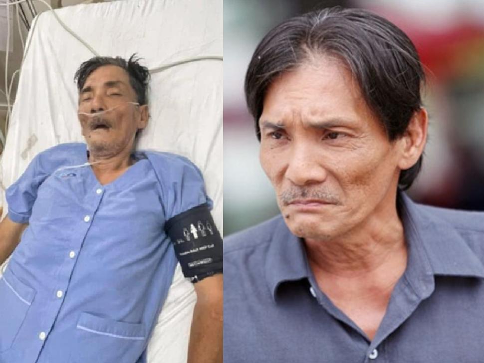 Xót xa hình ảnh diễn viên Thương Tín cấp cứu vì đột quỵ, sức khỏe rất yếu